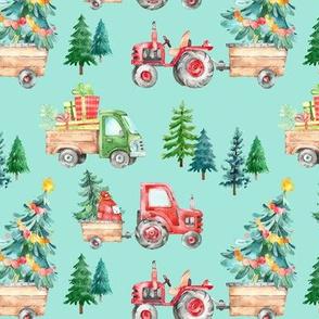 Christmas Tractor Parade // Aqua