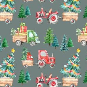 Christmas Tractor Parade // Silver Gray