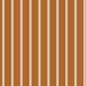 Ochre + Ecru Thin Stripes