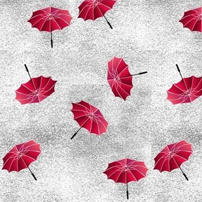 red umbrella toss