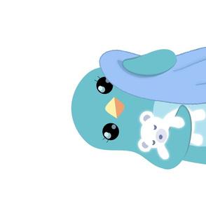 Bedtime Penguin Tea Towel