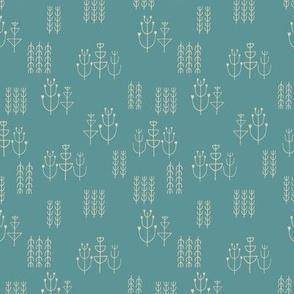 mid-century garden-turquoise