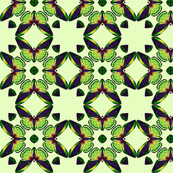 Lime butterfly tiles