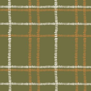 plaid stitches-olive