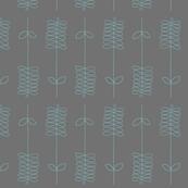 ribbon flower-gray