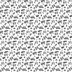 Tally Marks (white - smaller scale)