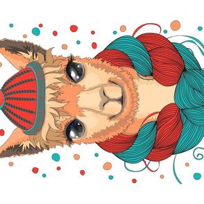 Llama in a hat.
