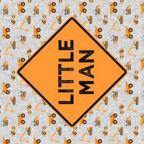 Little Man - Construction Panel - orange - LAD19