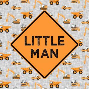 "18"" square panel - Little Man - Construction themed - orange - LAD19"