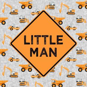 "27"" panel - Little Man - Construction themed - orange - LAD19"