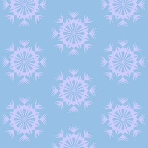 Prickle Patch of Arctic Blue on Periwinkle Blue - Small Scale