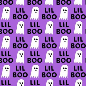 Lil Boo - Ghost - Halloween fabric - purple - LAD19