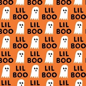 Lil Boo - Ghost - Halloween fabric - orange - LAD19