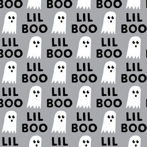 Lil Boo - Ghost - Halloween fabric - grey - LAD19