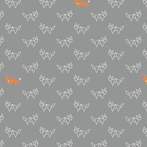Tangram fox grey and orange - small