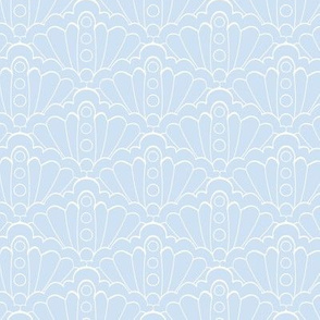 Seashell Lace Seamless Pattern Design.
