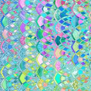 Colorful Pastel Art Deco Patchwork Pattern
