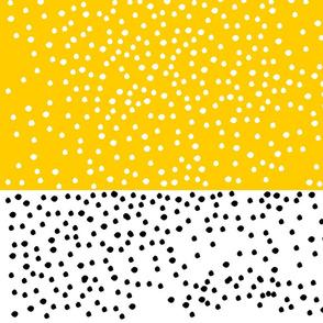 Yellow stripes and polka dots