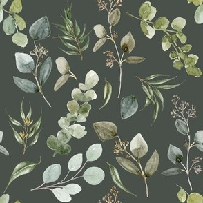 Earth Tone Eucalyptus // Olive Gray