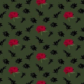 red peony and black foliage - small