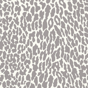 Leapin Leopard_Soft Grey