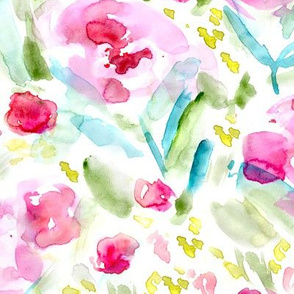 Bloom in June • watercolor floral pattern