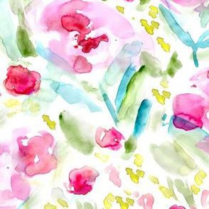 Bloom in June • watercolor floral pattern