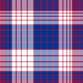 The Red and the Blue: Gradient Skinny Stripes Plaid - Red White and Blue Fattened up