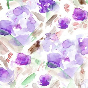 Bloom in June • purple • watercolor florals