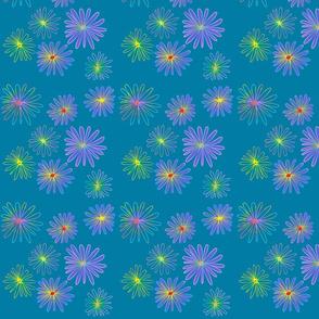 diaisy pattern teal