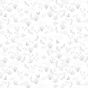 Doodle Field - White and Gray