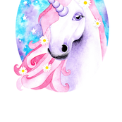 Dreamy Unicorn Portrait in Watercolour