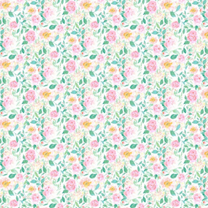 farmhouse floral pastel small scale