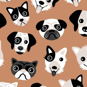 Little puppy friends dog illustration design mokka copper