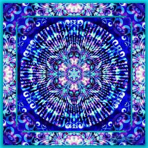 "MandalaTurquoiseBlue-18"""