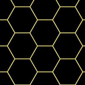 Pattern hexagons Neon (Yellow)