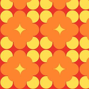 Light orange flower pop