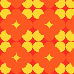Dark orange flower pop