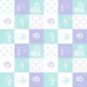 Alice in Wonderland Patchwork lavender aqua quilt