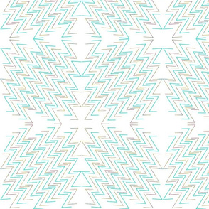 modern doodle teal and watercolor