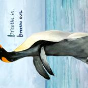 Penguin Yoga Wall Art