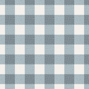 NEW Gingham_Mist Silver Blue