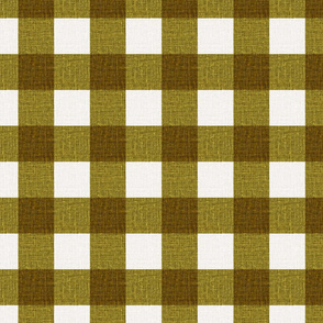 NEW Gingham_Olive Green
