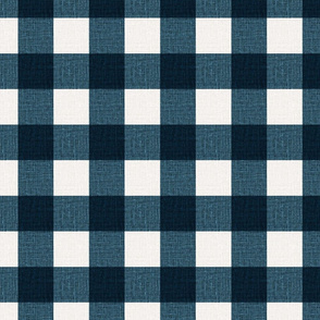 NEW Gingham_Prussian Blue