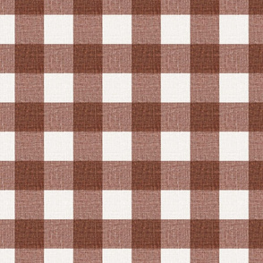 NEW Gingham_Red Oxide