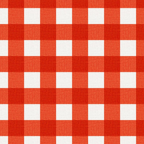 NEW Gingham_Bright Red