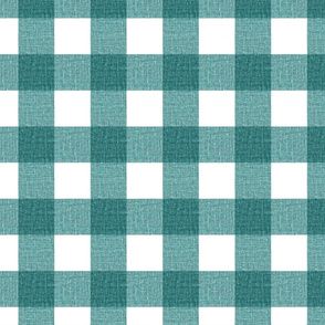 NEW Gingham_Teal