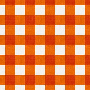 NEW Gingham_Bright Orange