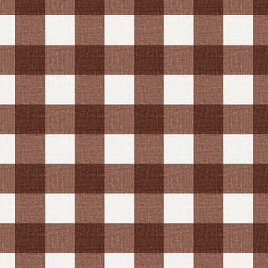 NEW Gingham_Brown Oxide