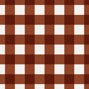NEW Gingham_Brick Red